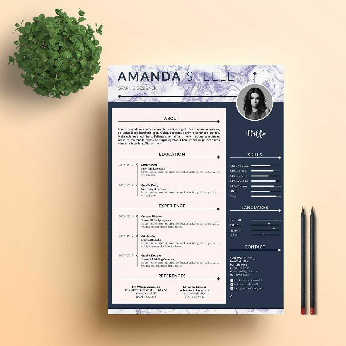modern resume template format examples for contemporary templates general objective job Resume Contemporary Modern Resume Template