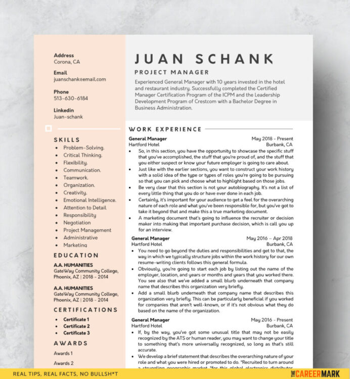 modern resume template free the career mark contemporary templates word 945x1024 make Resume Contemporary Resume Templates Free Word