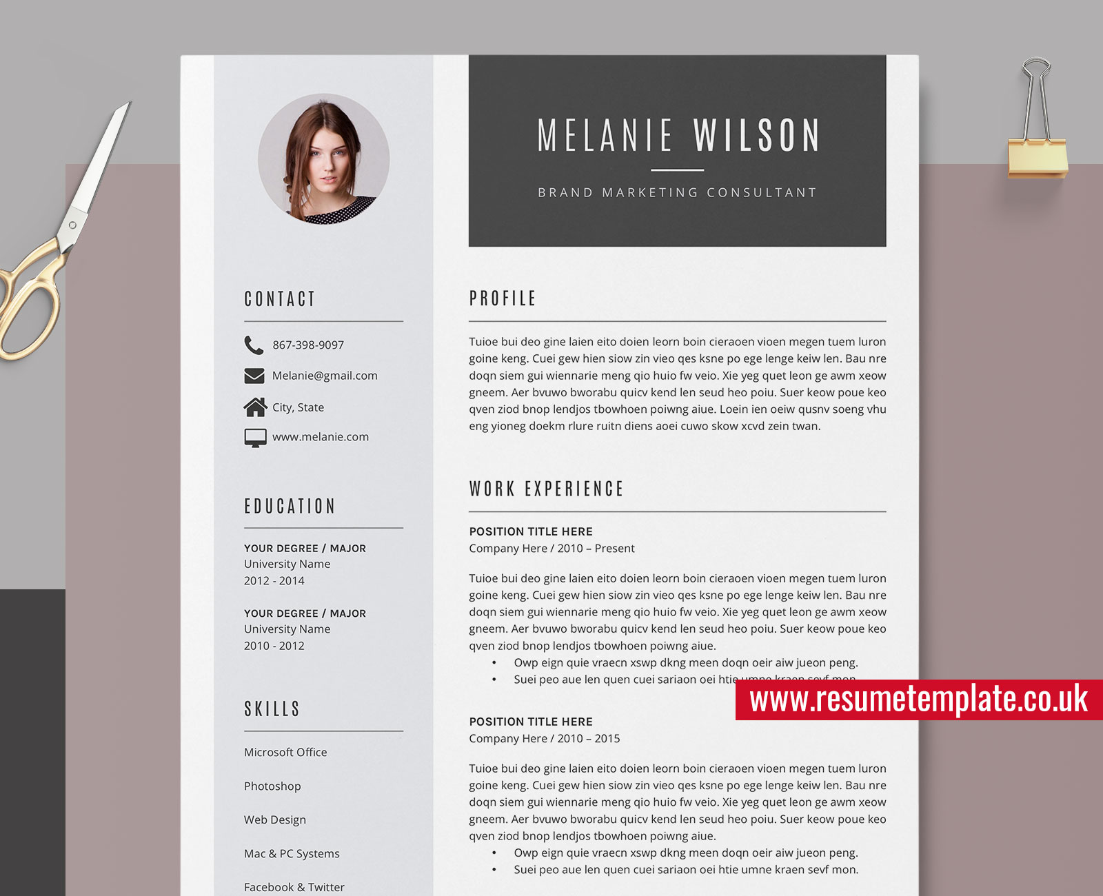 modern resume template word cv sample design fully editable cover letter and references Resume Microsoft Office Resume Templates 2021