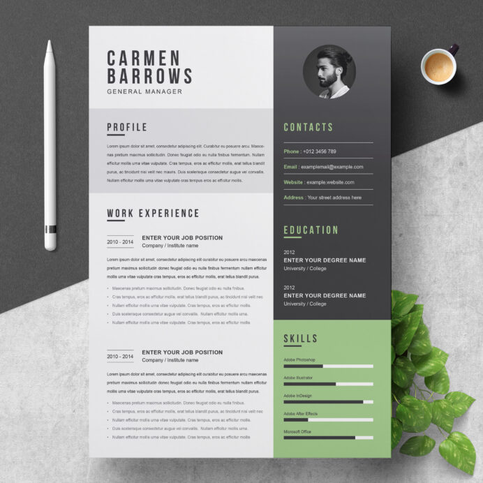 modern resume word document cv template free contemporary templates clean professional Resume Contemporary Resume Templates Free Word