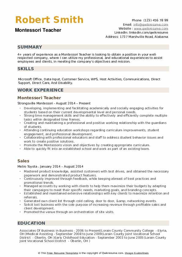 montessori teacher resume samples qwikresume objective pdf best font and size for Resume Montessori Teacher Resume Objective