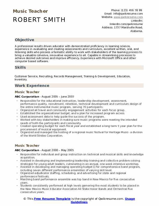 music teacher resume samples qwikresume composition pdf tags infrastructure engineer Resume Music Composition Resume