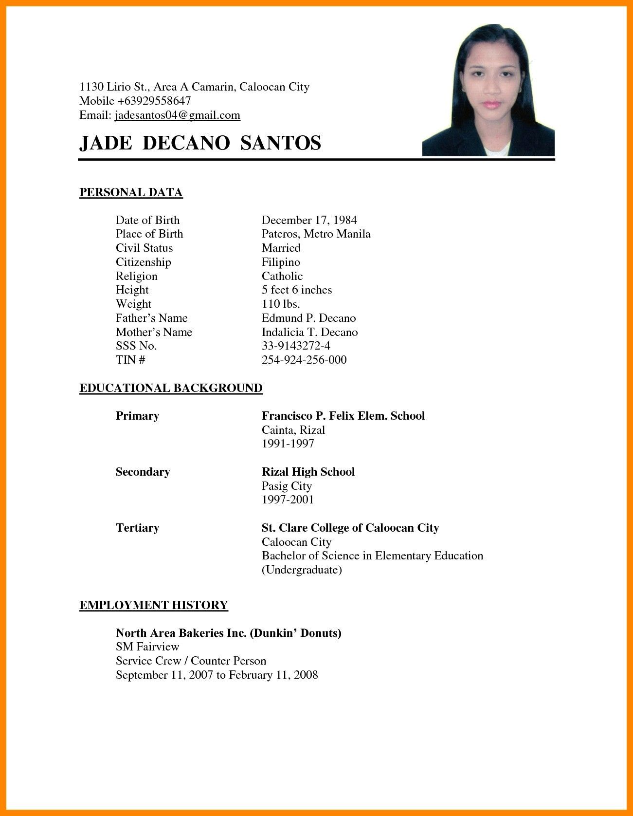 muslim marriage resume format for boy unique proposal the standard of matrimony biodata Resume Sample Resume For Office Boy