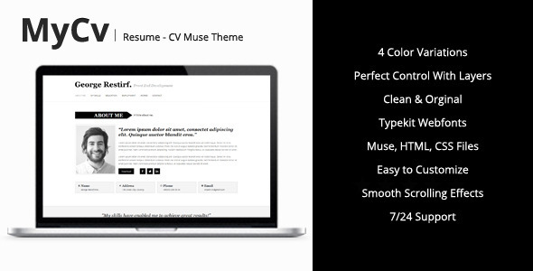 my cv resume muse template by mejora themeforest the templates preview large unsolicited Resume The Muse Resume Templates