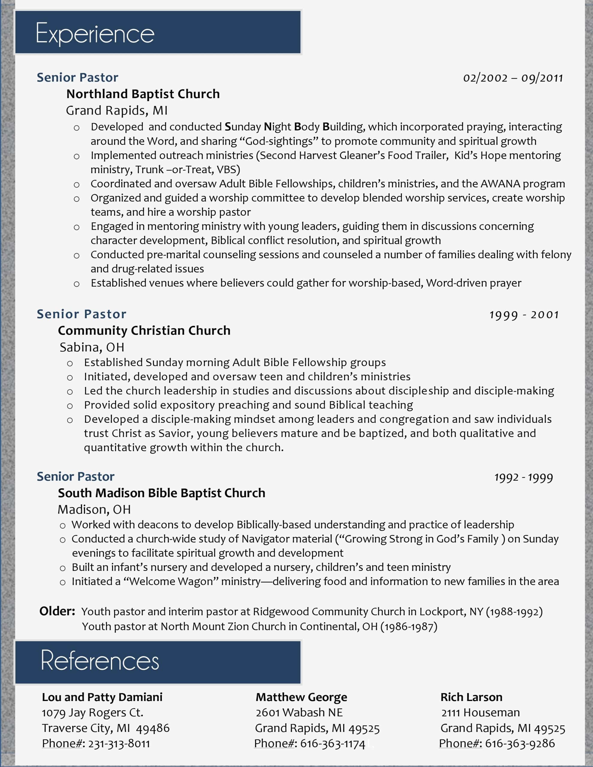 my resume design for pastoral position ll do yours just sample examples best licensing Resume Resume For Pastoral Position
