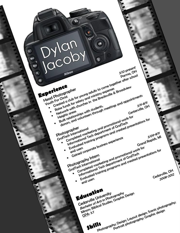 my resume design for photography the template just professional creative photographer Resume Creative Photographer Resume Templates