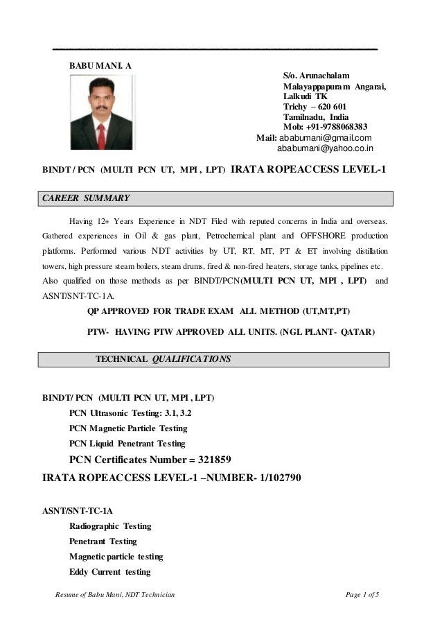 ndt inspector resume sample first time nanny action verbs yale student for summer Resume Ndt Inspector Resume Sample