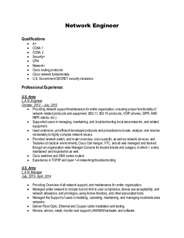 network engineer resume ccna routing and switching for freshers pcu nurse sample Resume Ccna Routing And Switching Resume For Freshers