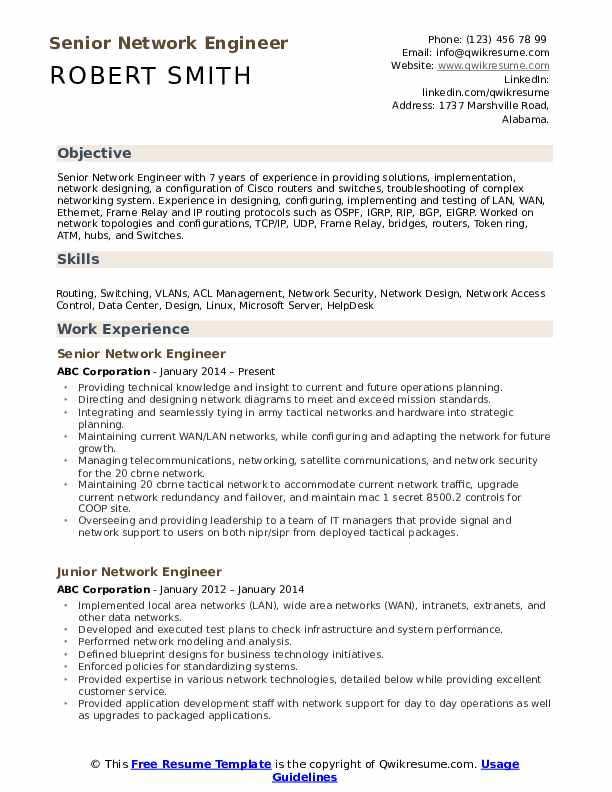 network engineer resume samples qwikresume ccna sample for experience pdf nursing Resume Ccna Sample Resume For Experience