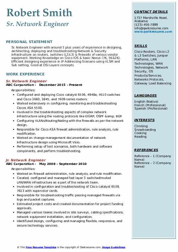 network engineer resume samples qwikresume ccna sample pdf software test different types Resume Ccna Network Engineer Resume Sample