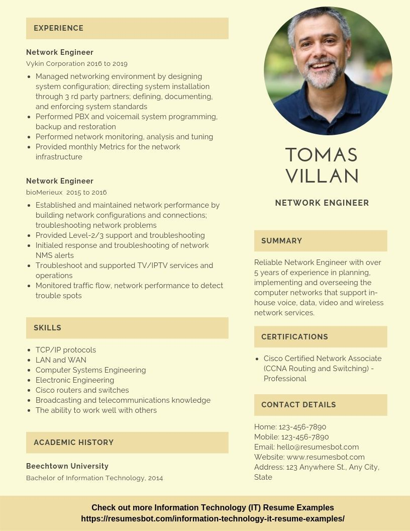 network engineer resume samples templates pdf resumes bot examples template ccna sample Resume Ccna Sample Resume For Experience