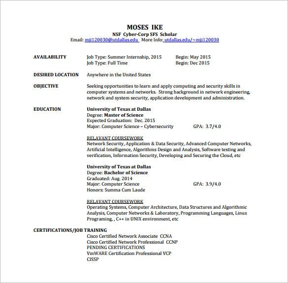 network engineer resume template free word excel pdf format premium templates ccna Resume Ccna Routing And Switching Resume For Freshers
