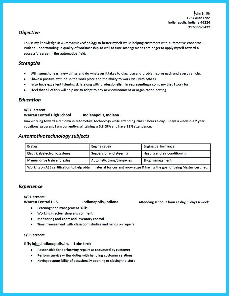 nice writing your great automotive technician resume examples objective ats friendly Resume Automotive Technician Resume Examples