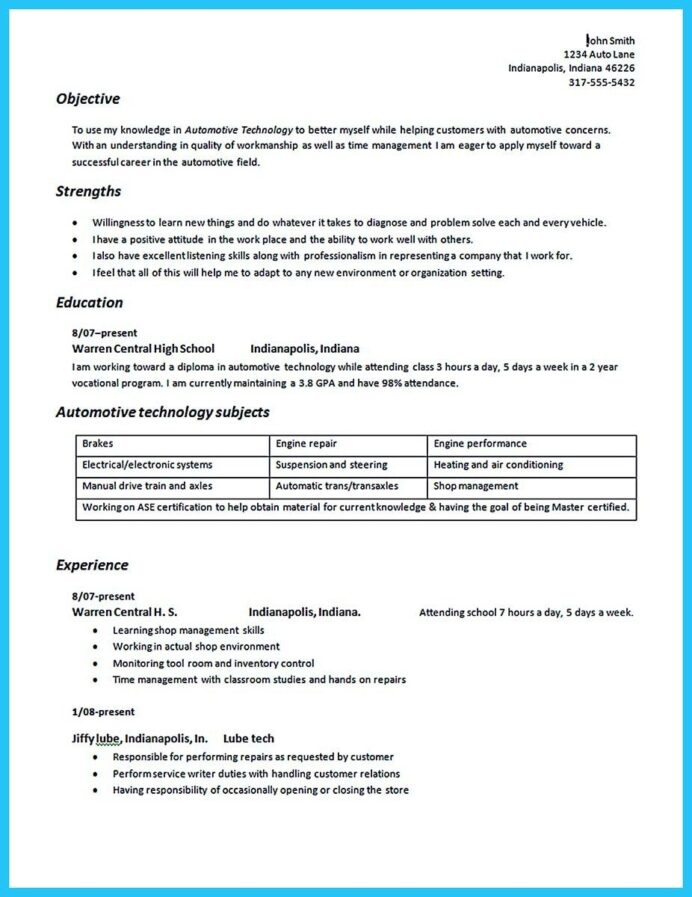 nice writing your great automotive technician resume examples objective auto body truck Resume Auto Body Resume Objective Examples