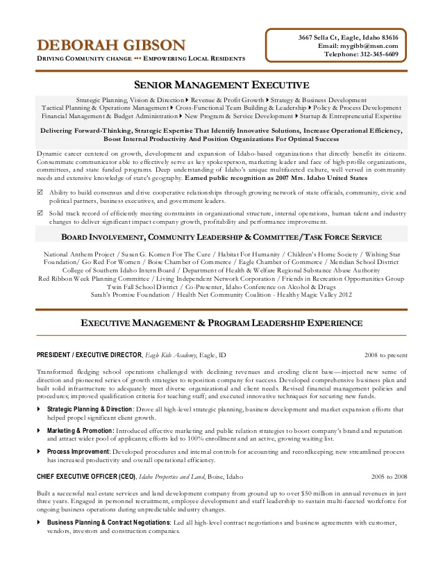non profit executive resume for volunteer board position nonprofit sap business objects Resume Resume For Volunteer Board Position