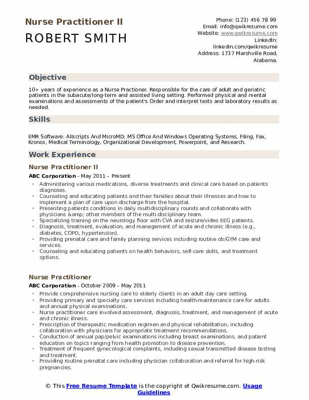 nurse practitioner resume samples qwikresume sample for new pdf adverbs insurance Resume Sample Resume For New Nurse Practitioner