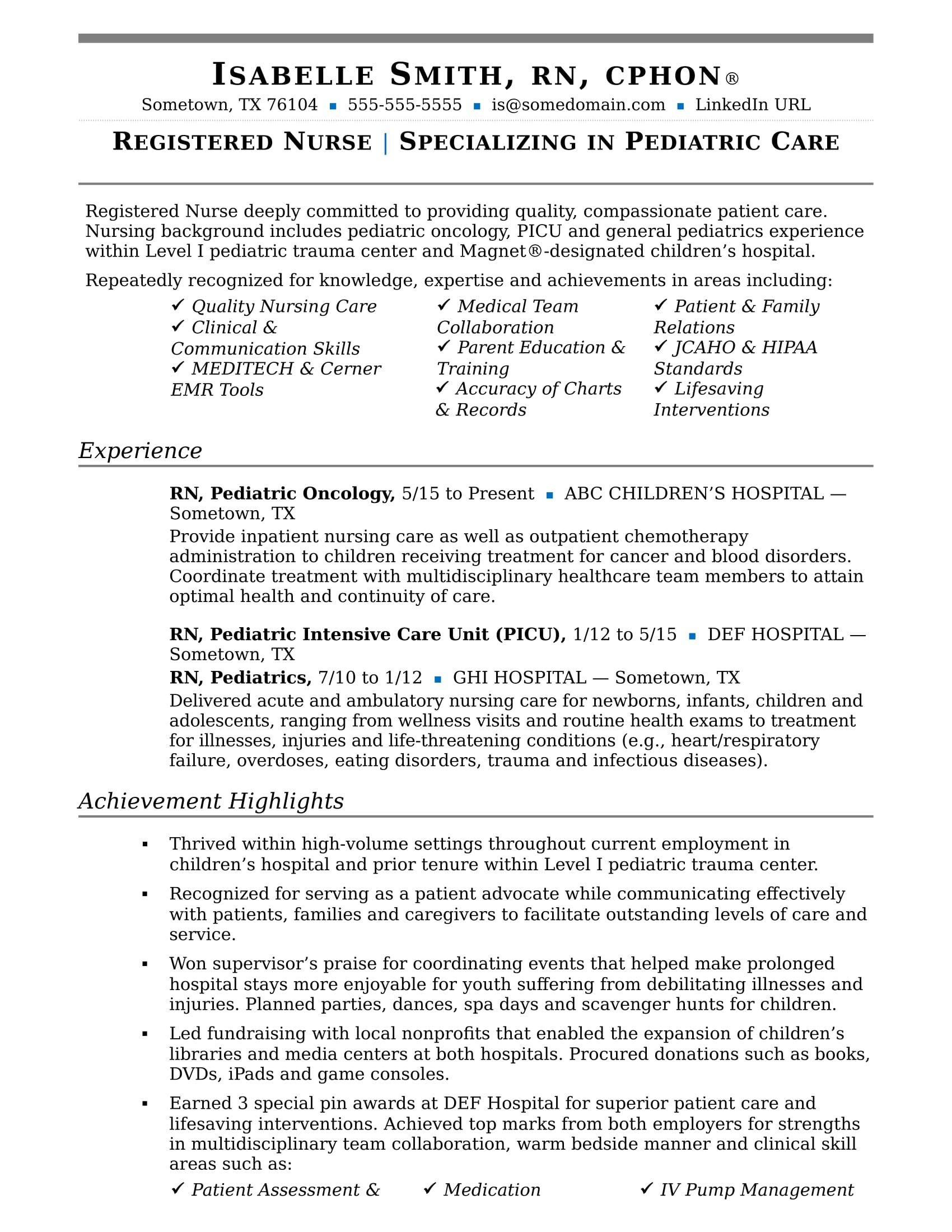 nurse resume sample monster areas of expertise for chaplain position barista counseling Resume Areas Of Expertise Resume
