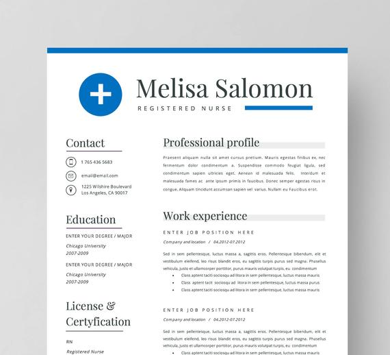 nurse resume template for word nursing medical etsy doctor il 570xn qmrh sample entry Resume Doctor Resume Template Word