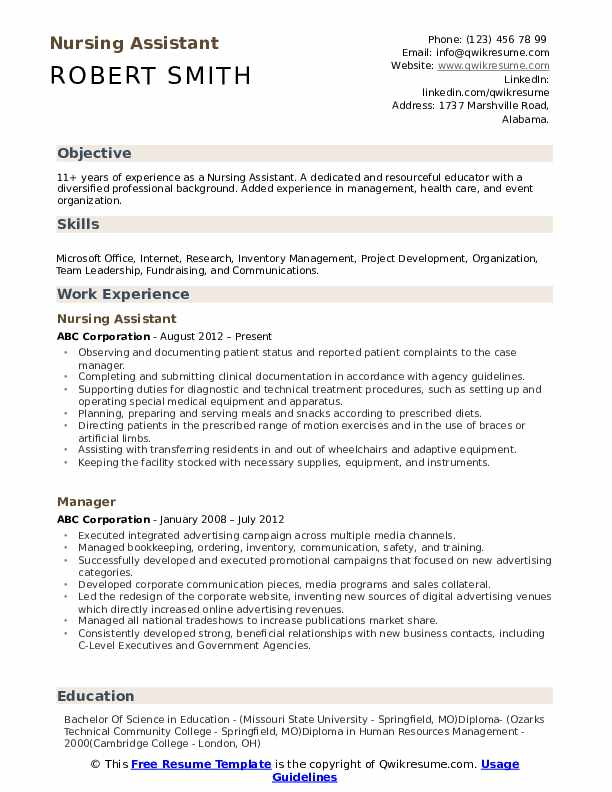 nursing assistant resume samples qwikresume cna description duties pdf excellent Resume Cna Description Duties Resume