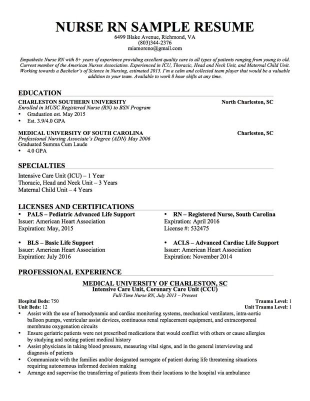 nursing resume sample writing guide genius template examples registered nurse gas station Resume Writing A Nursing Resume