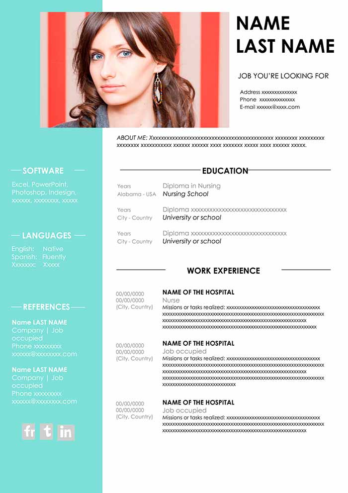nursing resume template free in word cv samples examples and printable templates cover Resume Nursing Resume Template
