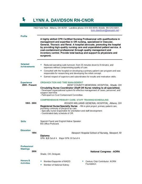 nursing resume templates easyjob free template business process management examples Resume Free Nursing Resume Templates