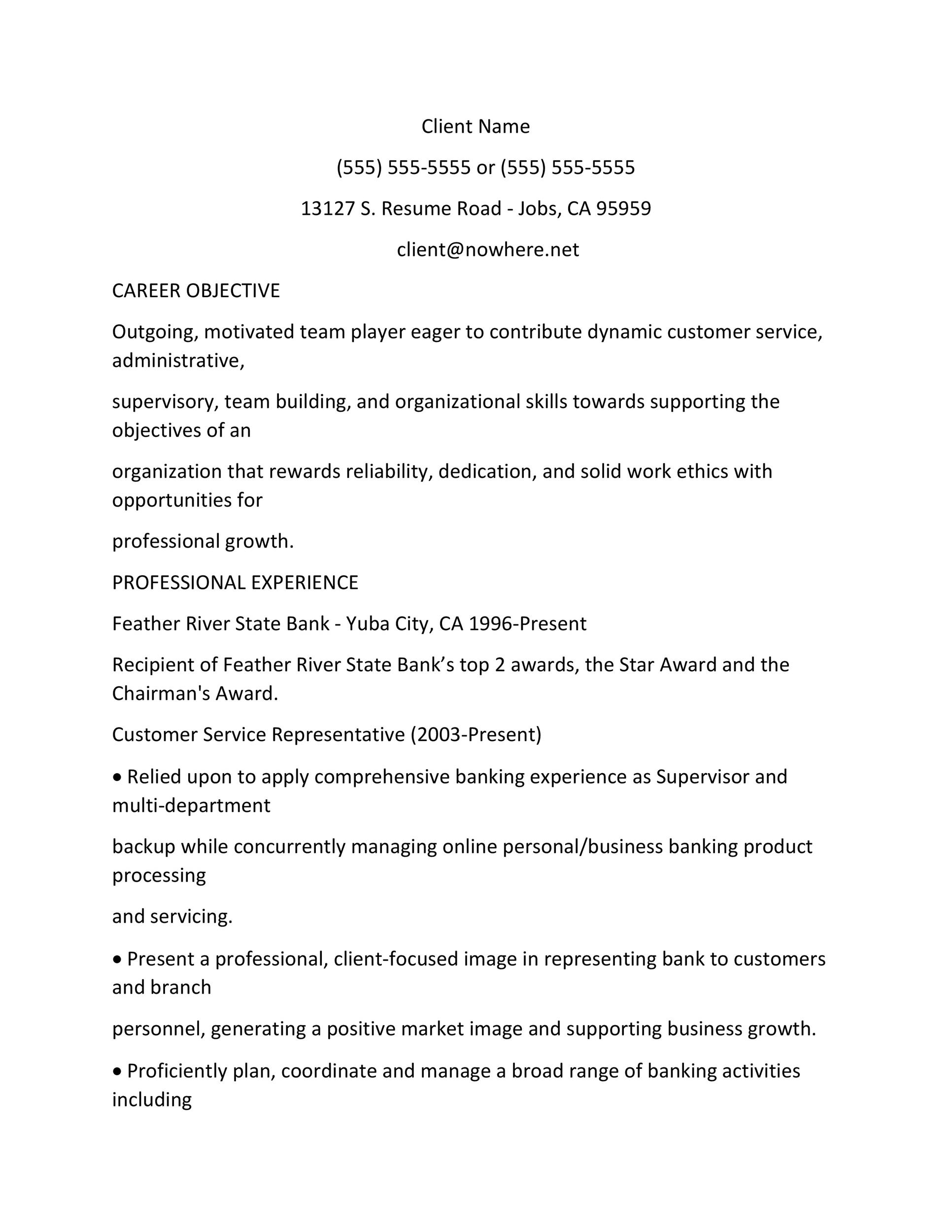 objective for customer service job resume examples template strong action verbs oracle Resume Resume Examples Customer Service Objective