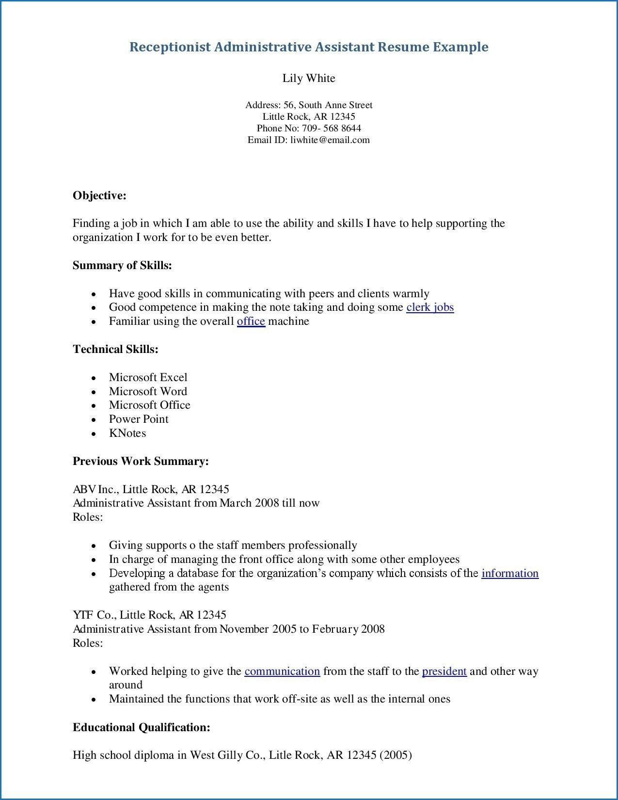 office assistant clerk resume sample best examples objective for air force crew chief Resume Resume Objective For Office Clerk