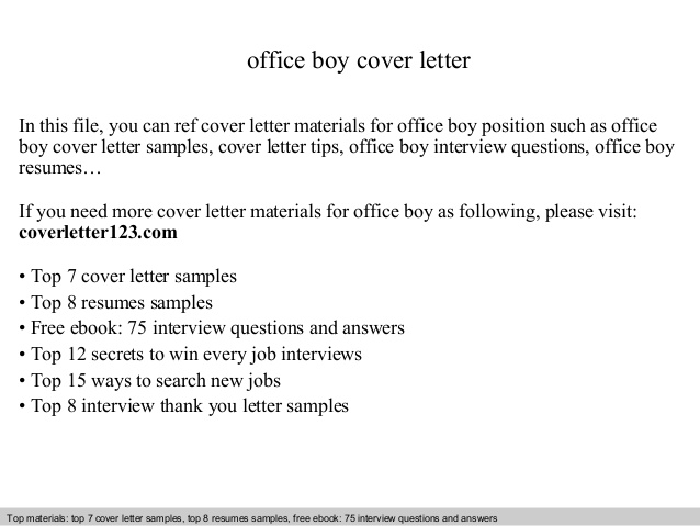 office boy cover letter sample resume for filling out shsu career services summary Resume Sample Resume For Office Boy