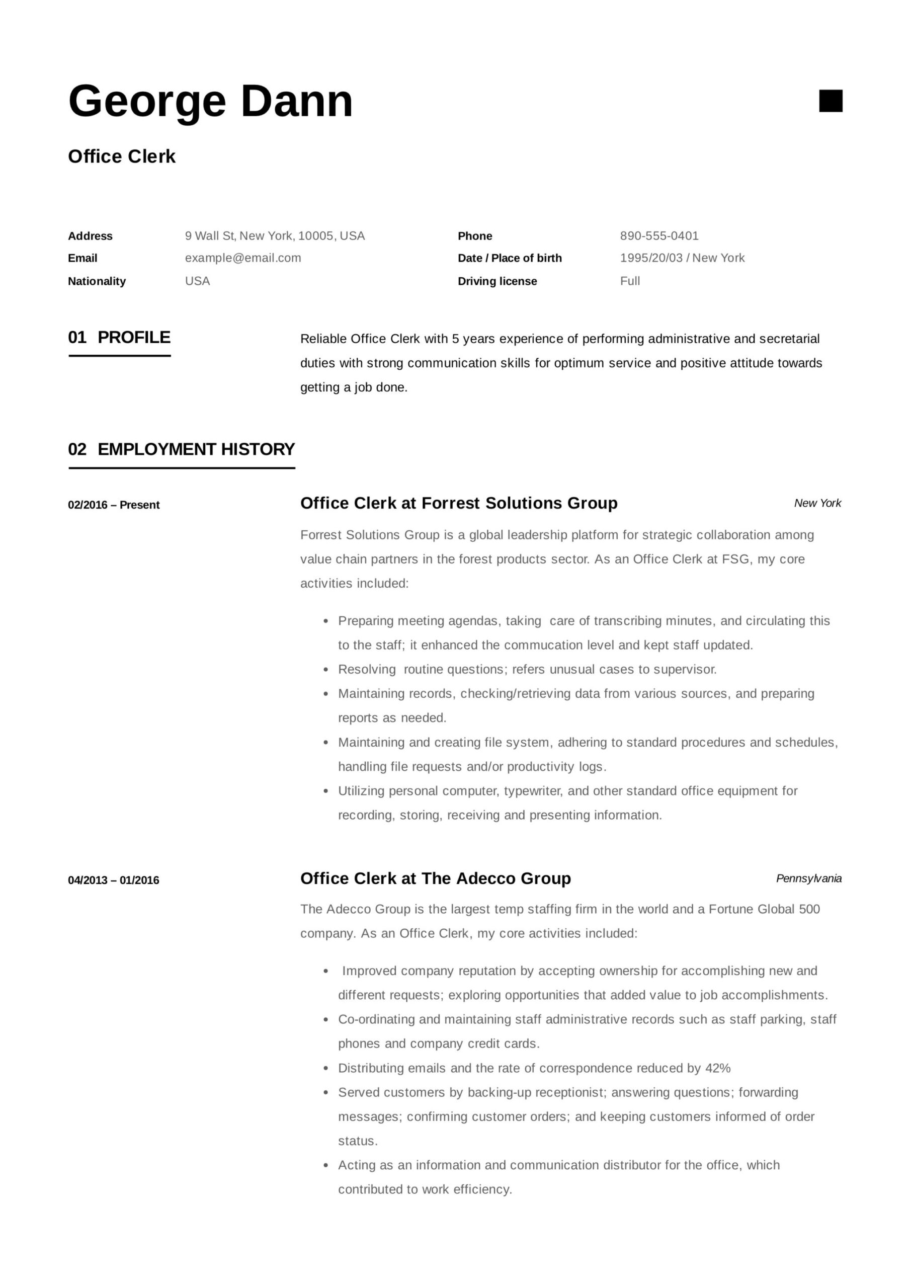 office clerk resume guide samples pdf objective for dann sample graduate nursing school Resume Resume Objective For Office Clerk