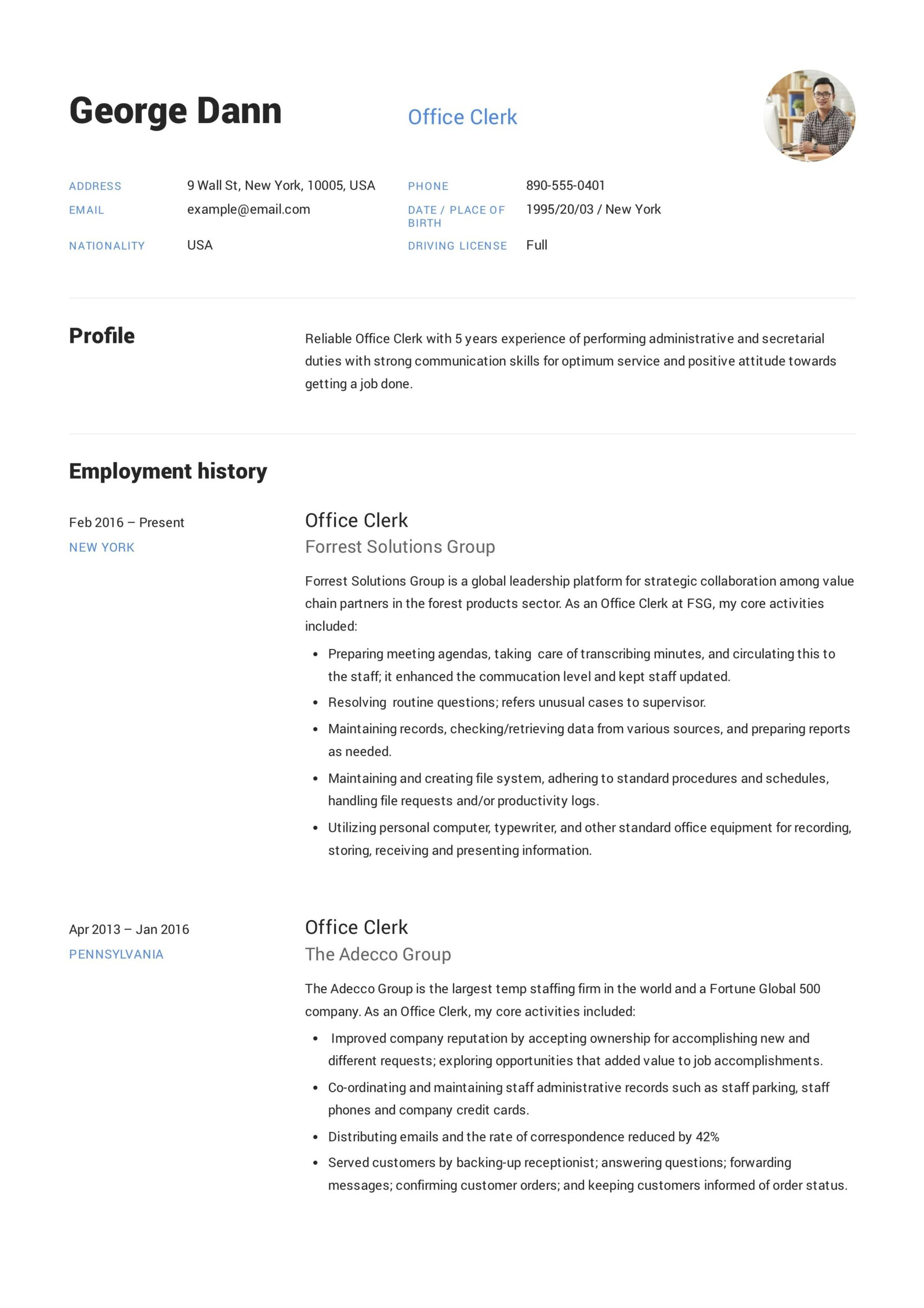 office clerk resume job examples guide summary objective for does your need address Resume Resume Objective For Office Clerk