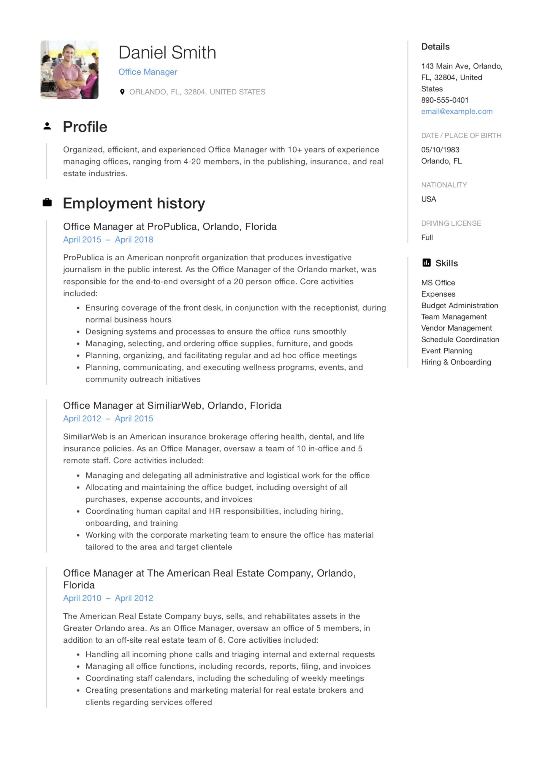 office manager resume guide samples pdf examples sample account executive keywords for Resume Office Manager Resume Examples 2019