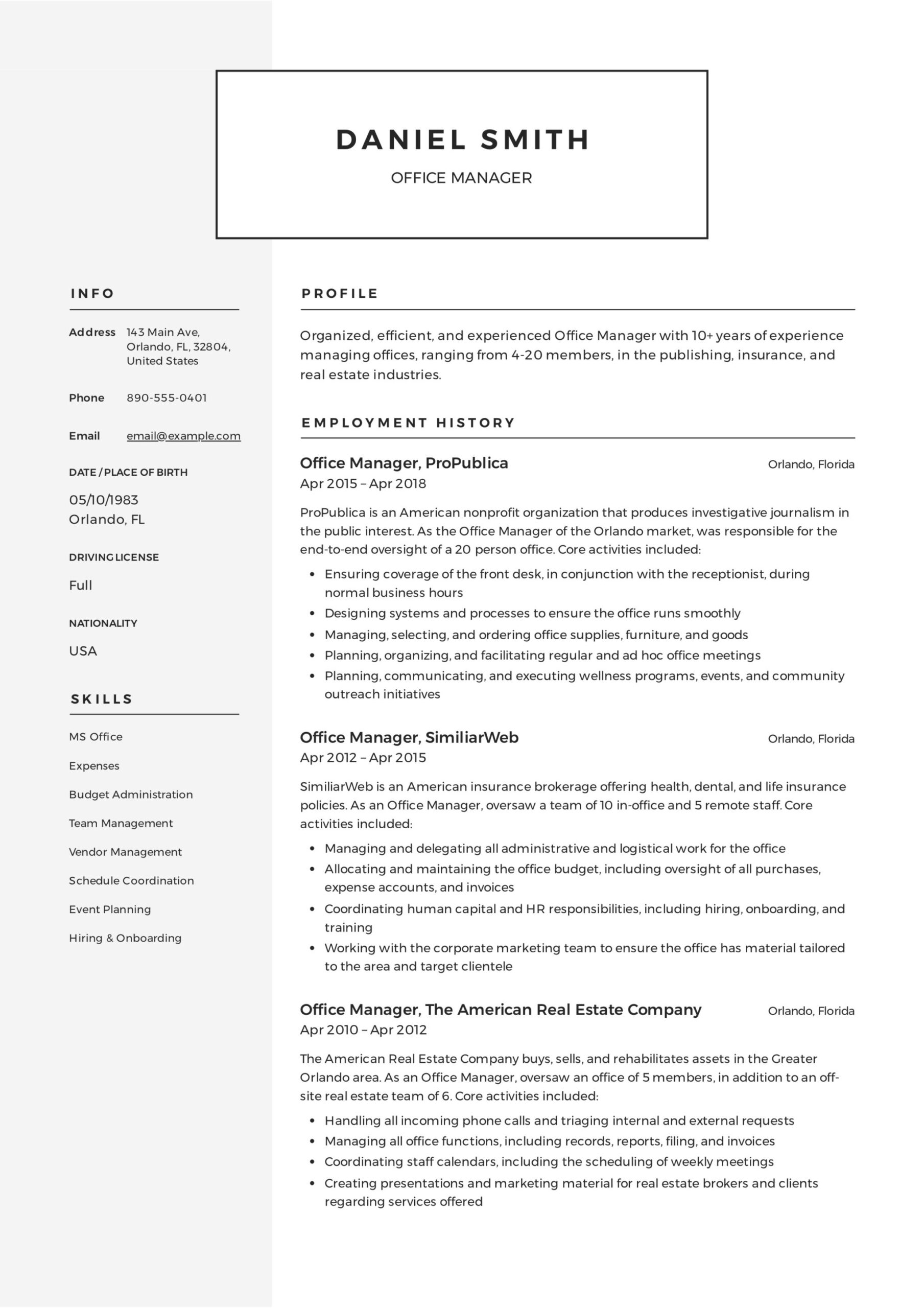 office manager resume guide samples pdf hire desk builder sample professional summary for Resume Hire Desk Resume Builder