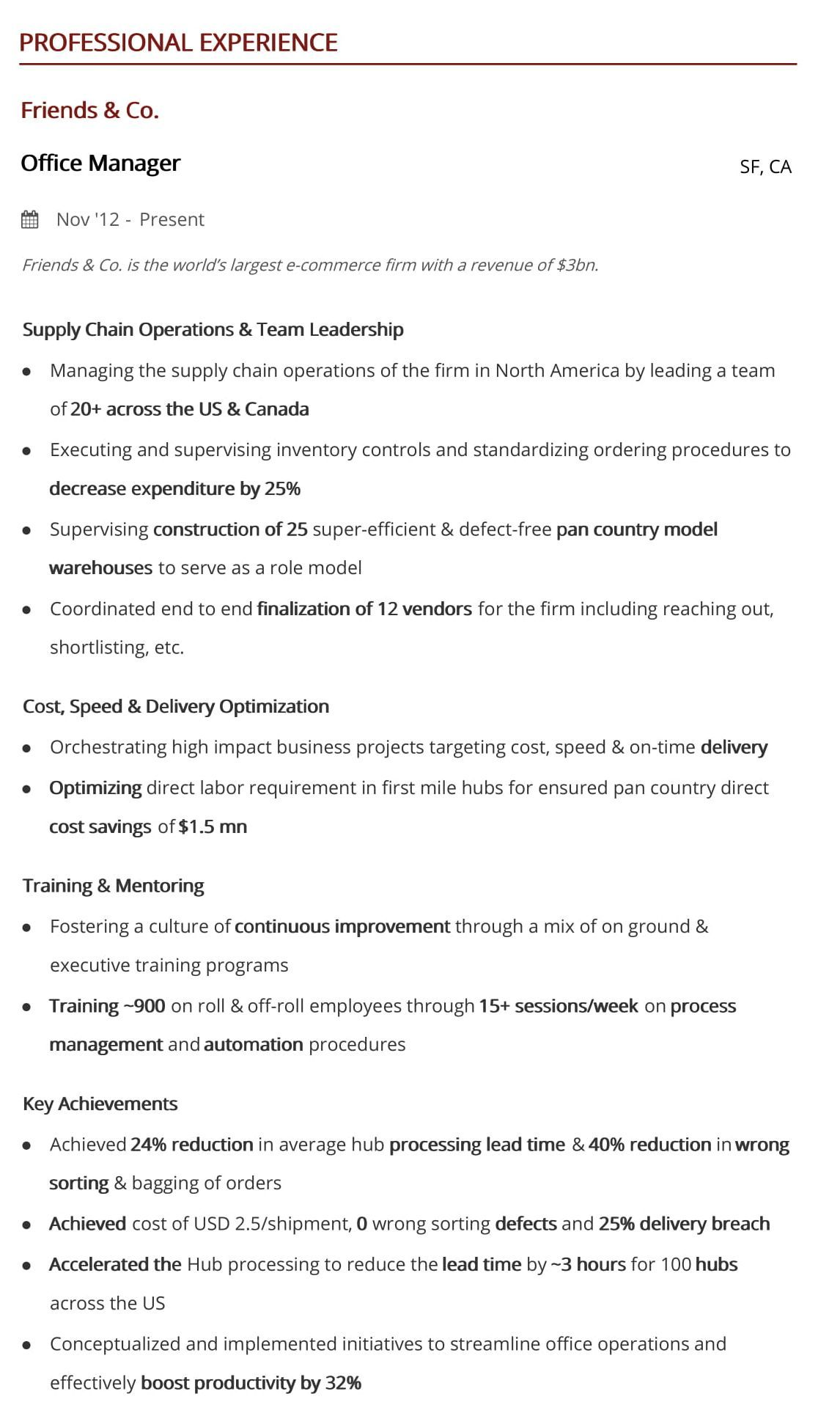 office manager resume step guide with samples examples hiration sample professional Resume Office Manager Resume Examples 2019