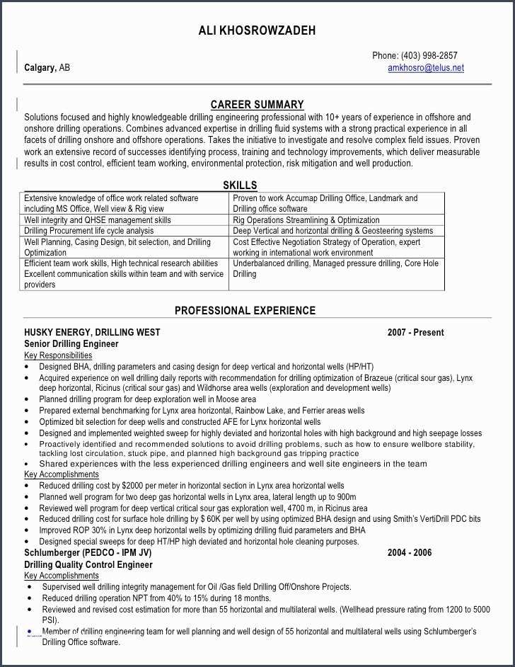 oil field engineer sample resume professional samples offshore experience front office Resume Offshore Experience Resume