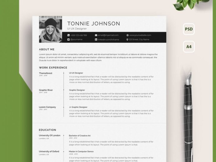 one resume template with photo free setresume artist portfolio 1000x750 great additional Resume Artist Resume Template Free Download