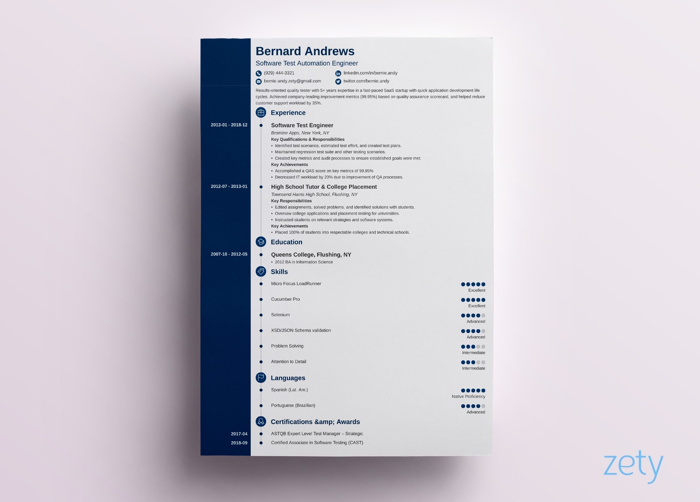 one resume templates examples of format best concept current trends training specialist Resume Best One Page Resume Examples