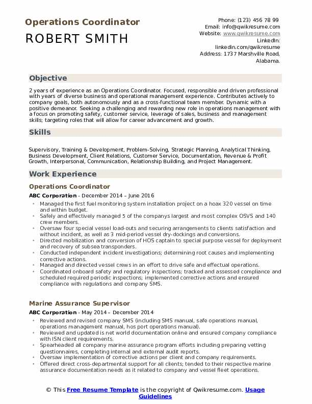 operations coordinator resume samples qwikresume pdf examples for technical skills Resume Operations Coordinator Resume