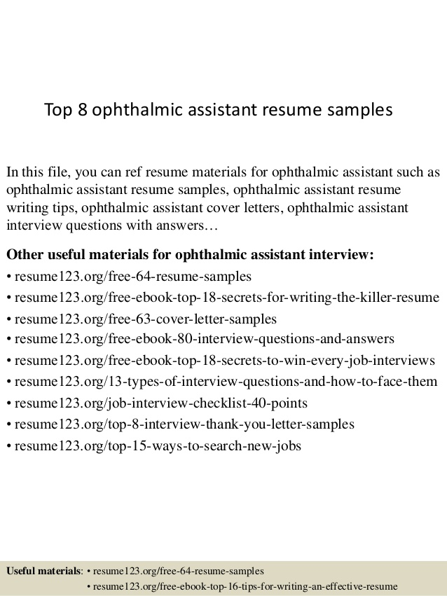 ophthalmic assistant resume certified top samples student teaching template everest Resume Certified Ophthalmic Assistant Resume