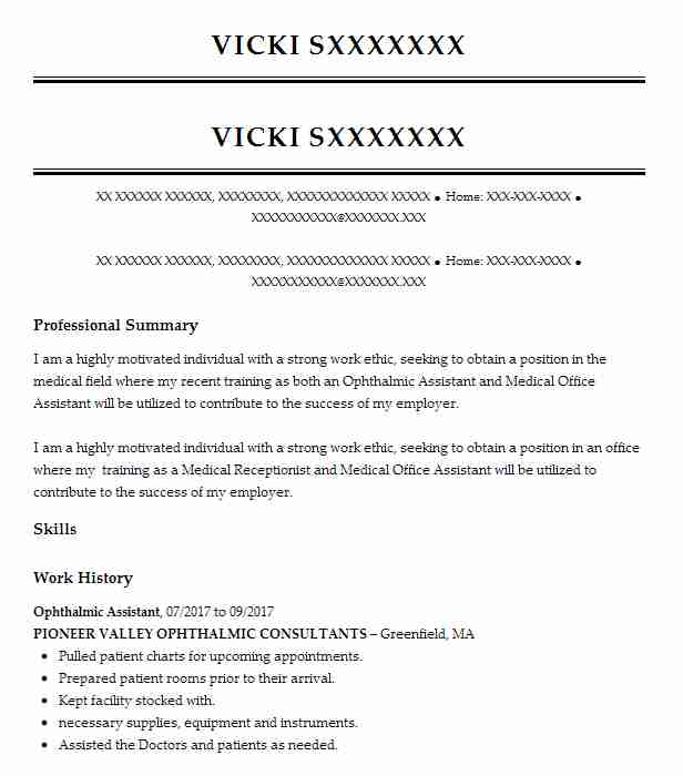 ophthalmic assistant resume example resumes misc livecareer certified sample for office Resume Certified Ophthalmic Assistant Resume