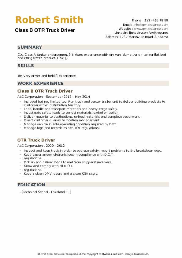 otr truck driver resume samples qwikresume pdf application engineer excellent examples Resume Otr Truck Driver Resume