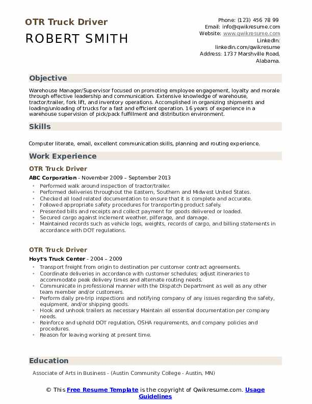 otr truck driver resume samples qwikresume pdf brief background summary for copy of Resume Otr Truck Driver Resume