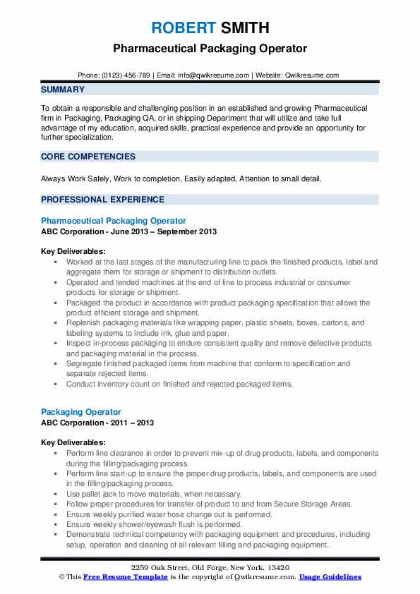 packaging operator resume samples qwikresume machine pdf honors and awards examples Resume Packaging Machine Operator Resume