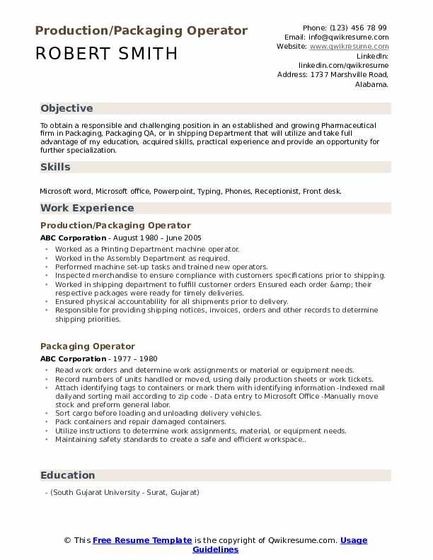 packaging operator resume samples qwikresume writing packages pdf fnp student example Resume Resume Writing Packages