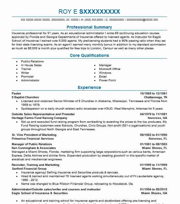 pastor resume example religion resumes livecareer for pastoral position iti motor Resume Resume For Pastoral Position