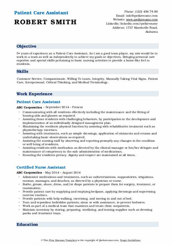 patient care assistant resume samples qwikresume examples pdf email message housekeeping Resume Patient Care Resume Examples