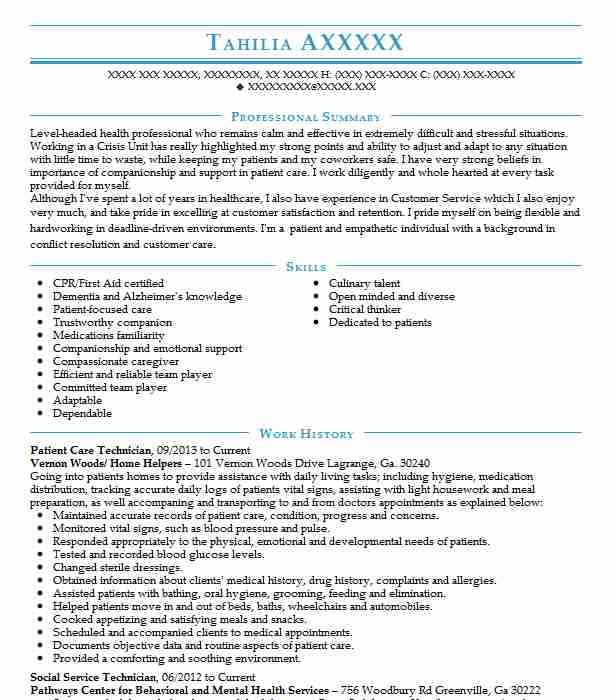 patient care technician resume example resumes misc livecareer examples cash office Resume Patient Care Resume Examples