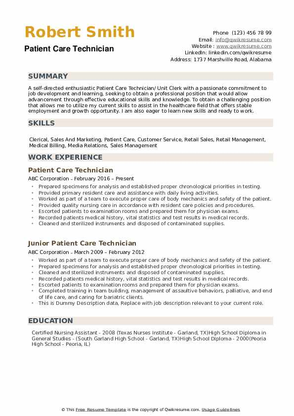 patient care technician resume samples qwikresume examples pdf cash office duties listing Resume Patient Care Resume Examples