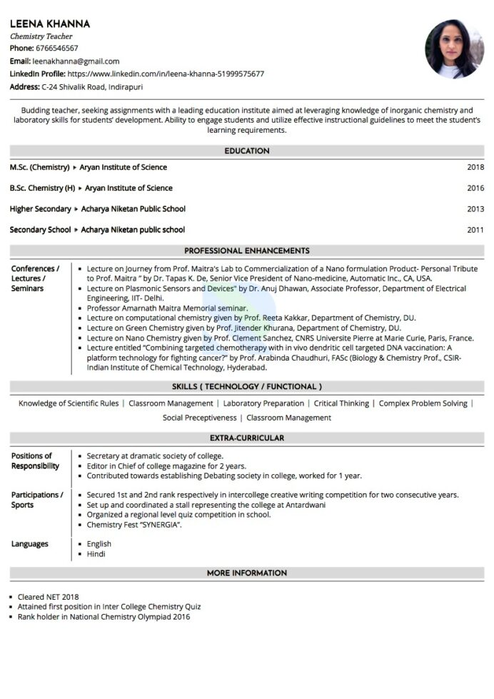 payments business analyst resume format for bsc chemistry freshers informal samples Resume Bsc Chemistry Fresher Resume Sample