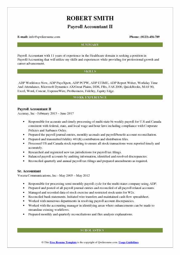 payroll accountant resume samples qwikresume examples pdf first job template for high Resume Payroll Accountant Resume Examples